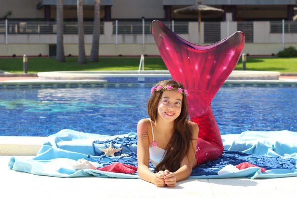 cola de sirena para nadar